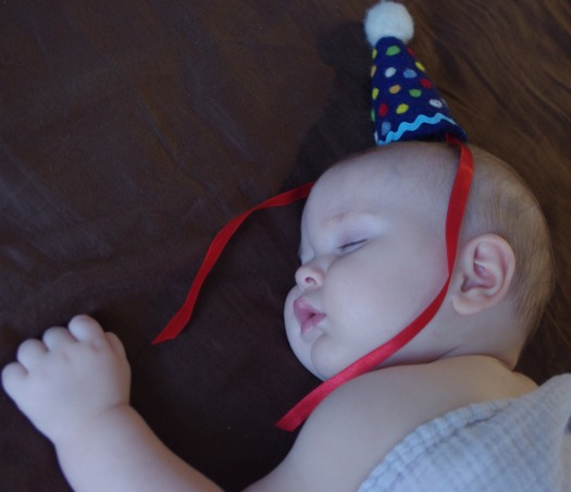 Reed_7Jul2013_sleepy bday hat