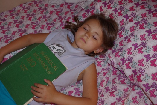 Alina_asleep with a book
